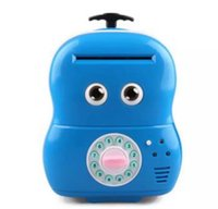 Wholesale Electronic Saver - Electronic Suitcase Money Bank Piggy Money Locker Coins Cashes Auto Insert Bills Safe Suitcase Money Saver Creative Gift For Kids
