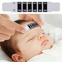 Wholesale Baby Forehead Strip Thermometer - 5Pcs Baby Kids Forehead Strip Head Thermometer Fever Body Temperature Test <US$10 no tracking