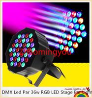 dimmer par light al por mayor-YON DMX Led Par 36w RGB LED Etapa Par Light Wash Atenuación Estroboscópica Luces de efecto de iluminación para Disco DJ Fiesta Mostrar