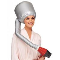 tapas fáciles al por mayor-Fácil uso Secador de cabello Secador de cabello Tinte de lactancia Modelado del cabello Secado con aire caliente Gorra para el hogar Más segura que la gorra eléctrica