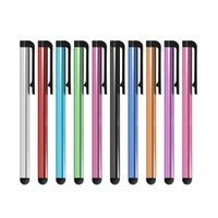 Stilo capacitivo universale all'ingrosso 1000pcs / lot per Iphone5 5S Touch Pen per il telefono cellulare per tablet diversi colori