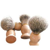 Wholesale Resin Handles - Hand made Pure Badger Hair Shaving Brush Resin Handle Barber Salon Men Facial Beard Brush Cleaning Shave Tool Beauty Tool