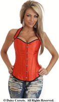 libero commercio all'ingrosso di trasporto 1349 Red Hot Pin-Up Burlesque del corsetto S-2XL