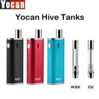 Wholesale Designed Atomizer - Authentic Yocan Hive Atomizers Wax Vaporizer & Oil Cartridges No Leakage Design 5pcs pack Plastic Tube Packed Compatible for Yocan Evolve-C