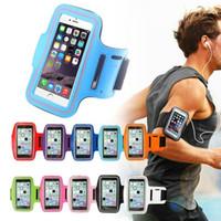 brazo móvil de la caja al por mayor-Brazalete deportivo para correr, a prueba de agua, funda de entrenamiento, soporte para brazalete, Pounch, banda de bolsa para el brazo del teléfono móvil, para iPhone X 8 7 6 Plus Samsung S8 S9 Plus
