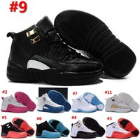 Wholesale Snakers Shoes - 2016 Kids (12)XII Retro Basketball Shoes Athletic Black Pink 16 Colors Sports Shoes for Boys Girls Retros Snakers Shoes With Boxes