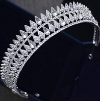 Wholesale Hair Made Plate - Bling Rhinestone Crystal Big Crowns Hair Tiaras Wedding Jewelry 2018 Hand Made Women Headpieces Bridal Accessories Pageant Gown