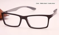 Wholesale new men women optical eyeglasses frames brand designer fashion carbon fibre black grey color in box case mm
