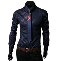 Wholesale Shirt Korea Import - Wholesale-2016 Exclusive New Boutique Casual Shirts South Korea Imported Fabrics The Obscure Twill Men's Long-sleeved Shirt