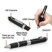 Wholesale Hidden Audio Recorders - 1080 Pen Camcorder Spy Pen HD Mini Covert Cameras Hidden Audio Video Recorder Motion Detection Loop Recording DVR Portable Spy Cam