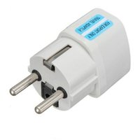 Wholesale European Uk Plug - New Portable UK US AU to EU European Power Socket Plug Adapter Travel Converter GSCP2417