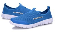 Wholesale Men Pedal Shoes - 2017 Men and women hollow low to help breathable mesh cloth shoes comfortable and comfortable shoes a pedal lazy shoes superstar