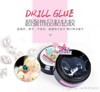 Wholesale Drill Uv - 2016 Japan Super Accessories Nail Gel Stick Drill Glue A nail sticking Transparent Plastic accessories Manicure Metal Jewelry Sticking Glue