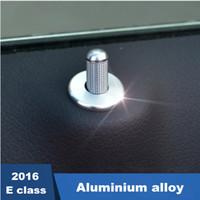 Wholesale Aluminium Circles - 4pcs Aluminium alloy Car Door Bolt circles decoration cover trim decals for Mercedes Benz E class W213 e200l e300l e320l 2016