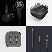 Wholesale Xiaomi Hongmi Mobile Phones - Wired Headphone MI Xiaomi In-ear Cell Phone Earphone With MIC For Hongmi Mobile Phone With MI Logo