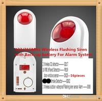 Wholesale Outdoor Siren Gsm - 433MHz 315MHz Wireless outdoor waterproof Flashing siren sensor Alarm working for KERUI GSM home security alarm system