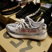 Wholesale Shoes For Fitness - [With Box] Yeezy Boost 350 V2 Cream White Zebra Black Gray Yeezys Shoes For Women And Men Eur Size 36-46