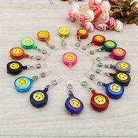 Wholesale smile clothes for sale - Group buy Telescopic Buckle Colorful Wire Puller Smile Pattern Badge Clothes Ornament Small Gift Multi Color Optional jy F R