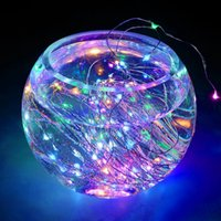 Wholesale pure copper cups resale online - New M FT led Decoration LED Copper Wire Fairy String Light Lamps for Christmas Holiday Wedding Party Garland Decoration
