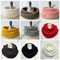 Cheap Fashion 18 Colors Winter Scarf Men Women Warm Infinity Scarfs Long Scarf Neckerchief Cheap Scarves Knitted Scarf Plain Scarves Z534-B