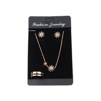 Wholesale Display Cards For Necklaces - Wholesale 100pcs lot 12cmx7cm Black Velvet Earring Card Display For Jewelry Set Showcase,Necklace Display Card,Ring Card Packaging