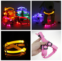 Brand new Pet supplies series LED Nylon Dog Chaist Strap Night safety LED flashing light glow in dark 6 colors PET dog cat chaist strap
