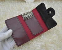 Wholesale Abs Shorts - 31503 Women Genuine Leather Lambskin Leather key Holder Small Purse For Key Wallets Card & ID Holders Key Wallets Black caviar