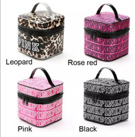 Wholesale Toiletry Storage Case - VS Pink Cosmetic makeup Storage PINK Tote Bags akeup Bag Travel Cosmetic Bag Box Makeup Case Pouch Toiletry Organizer KKA2820