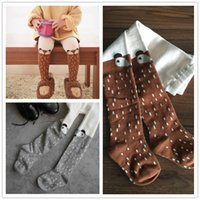 Wholesale Cute Infant Tights - Baby Warm Leggings Girls Cartoon Fox Cotton 2016 New Autumn Winter Infant Cute Tights Brown Gray Stockings Lovely Pants Fashion Panty-hose
