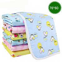 Wholesale Diapers Changing Mat - Baby Changing Table Mat Newborn Breathable Flannel Infant Baby Diaper Urine Pad TPU Waterproof Baby Changing Pad Diaper 76*60cm