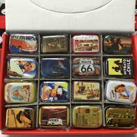 Wholesale Shipping Box Lid - Free shipping classics design series Storage box Jewelry Decorative Tin Box With Lids Candy Earphone Ring Christmas Gifts Boxes