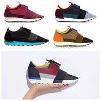 Wholesale Cheap Men Name Brand Sneakers - Name Brand Kanye West Race Runner Casual Shoe Man Woman New Designer Army Green Low Cut Mesh Trainer Shoes Cheap Sneaker Size 35-46