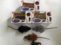 neuheit mäuse spielzeug großhandel-Lustiges RC drahtloses Fernsteuerungsratte-Maus-Spielzeug 3 Farben 30pcs / lot für Katzen-Hundehaustier