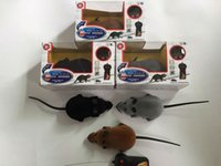Wholesale Rc Rat - Novelty Funny RC Wireless Remote Control Rat Mouse Toy 3 Colors 30pcs lot For Cat Dog Pet