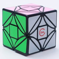 Wholesale Toy Funs - Funs Fangshi LimCube Cut-Version Dreidel 3x3x3 Magic Cube Puzzle Black And White And Pink Learning&Educational Cubo magico Toys