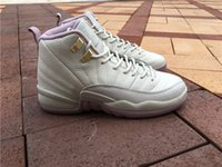 Wholesale Perfect Cherry Blossoms - 2016 New Arrival Retro 12 Plum Fog GS Basketball Shoes for Perfect quality With Carbon Fiber Airs 12s cherry Blossom XII Sneakers Size 36-40