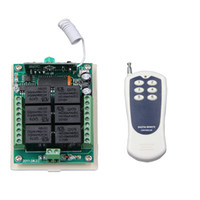 DC 12 V 24 V 6 CH 6CH RF Wireless Remote Control Switch System, Trasmettitore + Ricevitore, 315 / 433,92 MHz