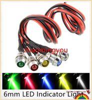 Wholesale Directional Led - 50PCS New 6mm LED Indicator Light Lamp Bulb Pilot Dash Directional Car Truck Boat 12V -UK lots of colours