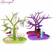 Guanya 4 color Jewelry Display Organizer Plastic Tree Earring Pulsera Holder Anillos Stand Jewelry Oragnizer Necklace Display