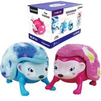 Wholesale Hedgehog Light - Interactive Hedgehog Pet With Lights Sounds And Sensors By Light-up Walk Roll Headstand Kids Toys OOA2934