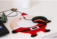 ratón d al por mayor-Decoraciones de Navidad Alfombrilla de ratón de la computadora de dibujos animados Regalos creativos tienen 4 estilos pueden elegir Decoraciones de vacaciones de la familia