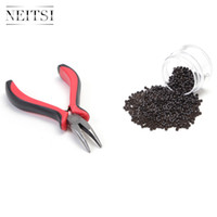Wholesale Cheap Pliers - Cheap 1000pcs Nano Ring +1pc Hair Extension Pliers(red) 5 Colors for Your Best Choice