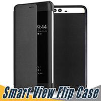 fenêtre pro achat en gros de-Smart View Flip PU Housse En Cuir Shell Smart View Fenêtre Pour Huawei Compagnon 9 Pro P10 Plus