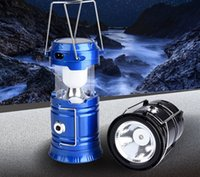 Wholesale Portable Collapsible Outdoor LED Camping Lantern with Batteries Black Collapsible Outdoor portable telescopic emergency lantern high grade