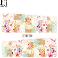 Wholesale Decal Transfer Paper - Wholesale- Jiji 1X Nail Art Watermark Sticker Temporary Water Transfer Decals Summer Style Sea Shell Design Paper Tips Manicure Tools BN160