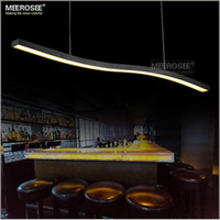 Wholesale Coffee Wave - White Acrylic LED pendant lighting fixture lustre Modern wave LED suspension lamp for Coffee house living room LED hanging light