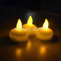 Wholesale floating waterproof lights resale online - Eco Friendly Floating Waterproof Led Tea Candle Lights Battery Operated Lamp Wedding Decoration