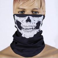 máscara esquelética del cráneo del fantasma al por mayor-Festivo Máscara de miedo de Halloween Festival Máscaras de calavera Esqueleto Motocicleta al aire libre Bicicleta Múltiples máscaras Bufanda Máscara de media cara Cap Neck Ghost