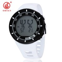 Wholesale Electronic Multifunctional Sports - OHSEN New 2017 military Multifunctional electronic fashion sprots swim dive run watches white alarm watch Relogio Masculino Montre Homme