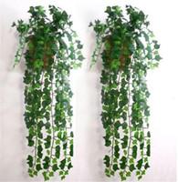 Wholesale plant decor order for sale - Group buy mix order feet Artificial Ivy Leaf Garland Plants Vine Fake Foliage Flowers Home decor JE083